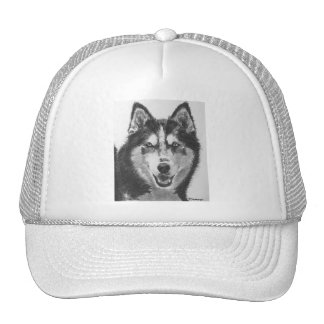 Dibujo del husky siberiano gorras