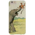 Dibujo del libro de la historia del elefante funda para iPhone 6 plus barely there