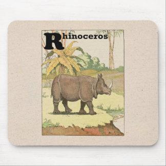 Dibujo del libro de la historia del rinoceronte tapetes de raton