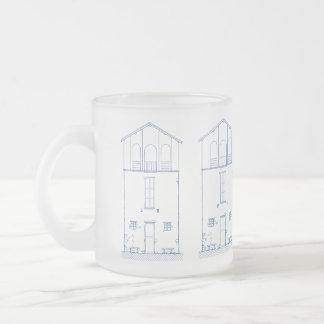 Dibujo del modelo de la elevación de la cabaña de