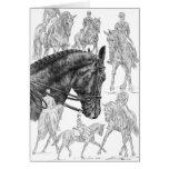 Dibujo del montaje de los caballos del Dressage po Tarjeta