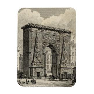 Dibujo del monumento de Porte Santo-Denis Iman De Vinilo