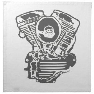 Dibujo del motor de Harley Panhead Servilleta