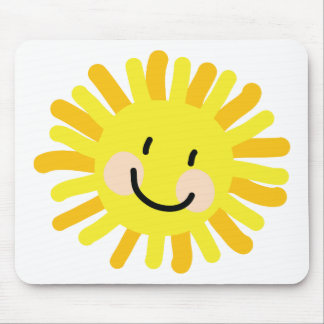 Dibujo del niño de Sun Alfombrilla De Raton