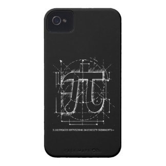 Dibujo del número del pi Case-Mate iPhone 4 cobertura