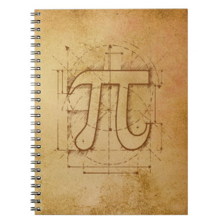 Dibujo del número del pi cuadernos