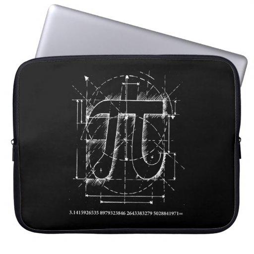 Dibujo del número del pi funda portátil