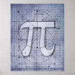 Dibujo del número del pi impresiones