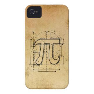 Dibujo del número del pi iPhone 4 fundas