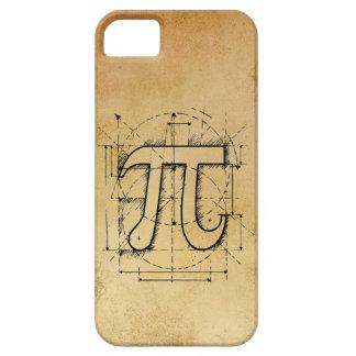 Dibujo del número del pi iPhone 5 carcasas