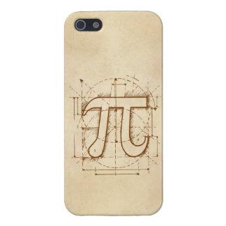 Dibujo del número del pi iPhone 5 fundas