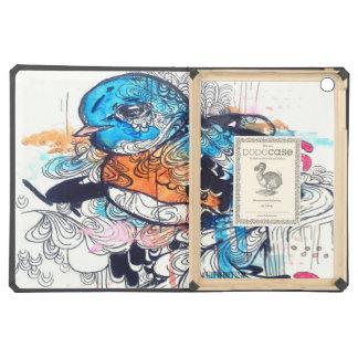 dibujo del pájaro de la acuarela, arte psicodélico