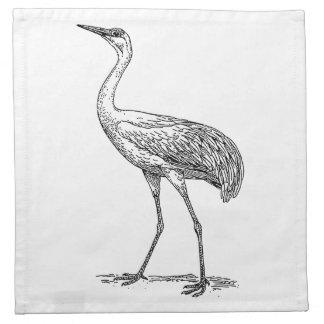 Dibujo del pájaro de la grúa