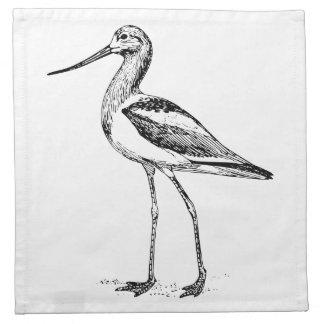 Dibujo del pájaro del Avocet