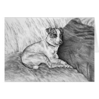 Dibujo del perro de Jack Russell Terrier por el ci Tarjeta De Felicitación