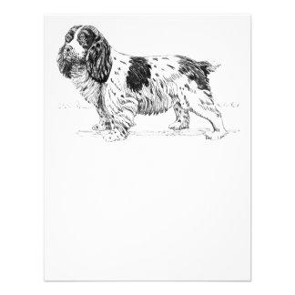 Dibujo del perro del perro de aguas de saltador invitacion personal