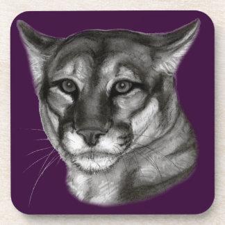 Dibujo del puma posavaso