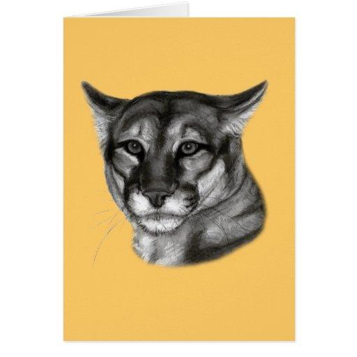 Dibujo del puma tarjeta de felicitación