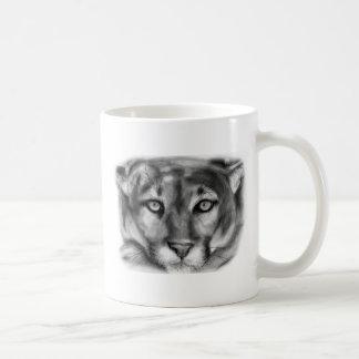 Dibujo del puma taza de café
