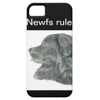 Dibujo del retrato del perro de Terranova iPhone 5 Funda