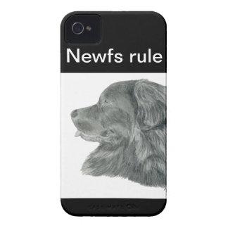 Dibujo del retrato del perro de Terranova Case-Mate iPhone 4 Cárcasas