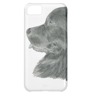 Dibujo del retrato del perro de Terranova Funda Para iPhone 5C