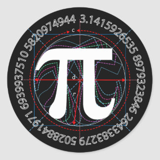 Dibujo del símbolo del pi pegatina redonda