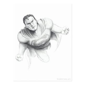 Dibujo del superhombre postal