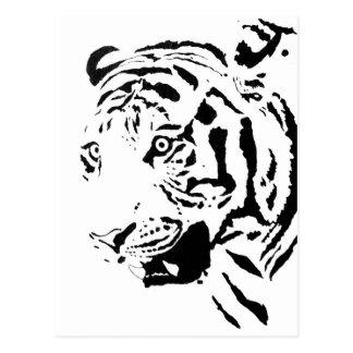 Dibujo del tigre de Amur Tarjetas Postales