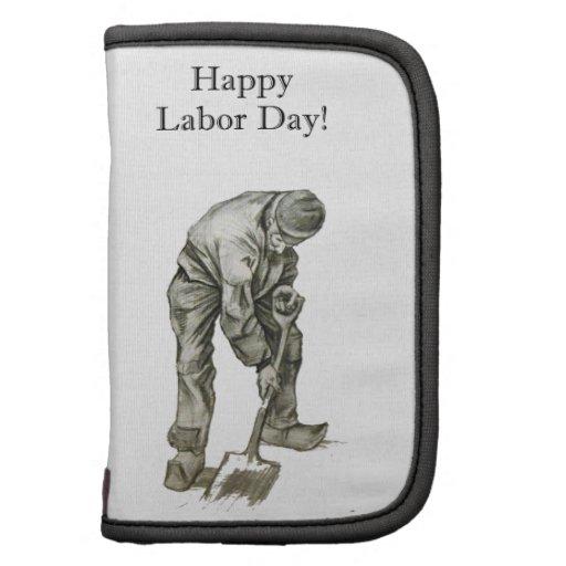 Dibujo del trabajador de Van Gogh del Día del Trab Planificador