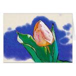 Dibujo del tulipán de la hierbabuena tarjetas