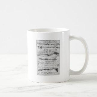 Dibujo del vintage de la estructura del brazo taza de café