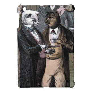 Dibujo del vintage: Los gatos Teaparty