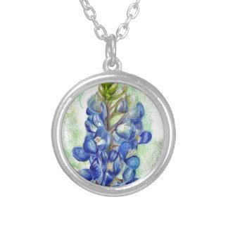 Dibujo del Wildflower del Bluebonnet de Tejas Colgante Redondo