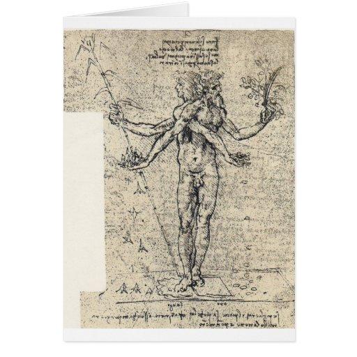 Dibujo desconocido de la recopilación del androgyn tarjeta de felicitación