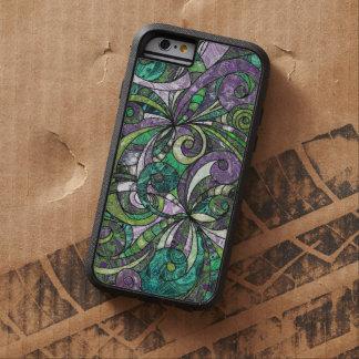 dibujo duro Zentangle floral del caso del iPhone 6 Funda De iPhone 6 Tough Xtreme