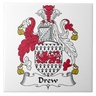 Dibujó el escudo de la familia azulejo cuadrado grande
