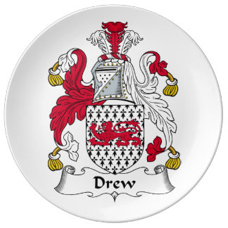 Dibujó el escudo de la familia platos de cerámica