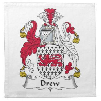 Dibujó el escudo de la familia servilletas de papel