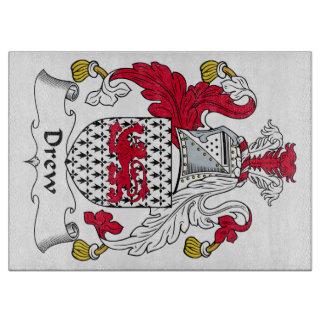 Dibujó el escudo de la familia tablas de cortar
