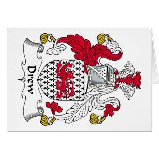 Dibujó el escudo de la familia tarjeta de felicitación