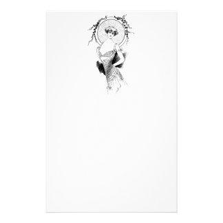 Dibujo elegante de la mujer del art déco de Nouvea Papelería De Diseño