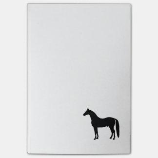 Dibujo elegante de la silueta del caballo del notas post-it®