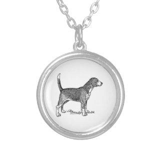 Dibujo elegante del perro del beagle lindo pendiente personalizado