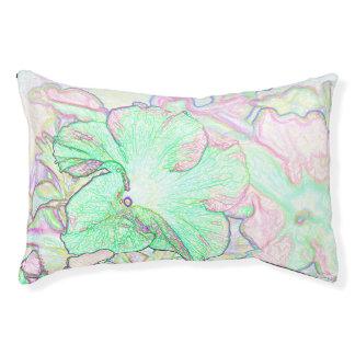 Dibujo en colores pastel abstracto de las flores cama para mascotas