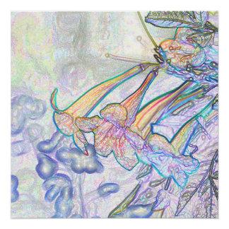 Dibujo en colores pastel abstracto de las flores