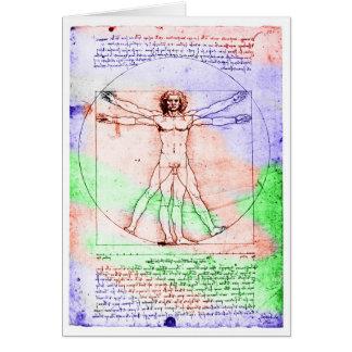 Dibujo en colores pastel del hombre de la proporci tarjeta de felicitación