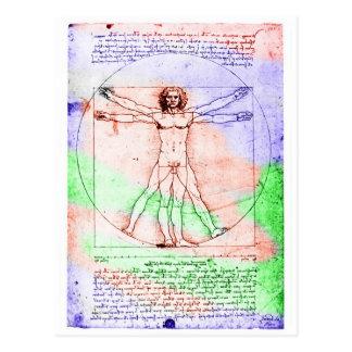Dibujo en colores pastel del hombre de la proporci tarjetas postales