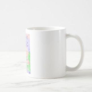Dibujo en colores pastel del hombre de la proporci tazas