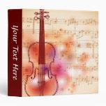 """Dibujo en el fondo de la acuarela del violín carpeta 1 1/2"""""""